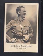 Dt. Reich AK Hitler Der Befreier Deutschlands 1933 - Personaggi Storici