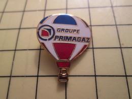 Pin1215c Pin's Pins / Beau Et Rare : MONTGOLFIERE / BALLON LIBRE TRICOLORE GROUPE PRIMAGAZ - Airships
