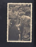 Dt. Reich AK Hitler Mit Kind Sonderstempel Pasewalk 1938 - Historical Famous People