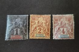 ST MARIE DE MADAGASCAR 1/2/3*MH - Unused Stamps