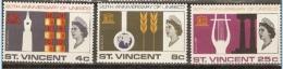 St Vincent 1966  SG 254-6  UNESCO   Unmounted Mint - St.Vincent (...-1979)