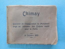 02 - CHIMAY - Souvenir De L'inauguration Du Monument érigé En L'honneur Des Enfants Morts Pour La Patrie 14 Octobre 1923 - Guerre 1914-18