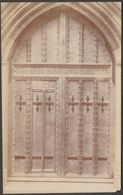 Western Door, Tewkesbury Abbey, Gloucestershire, C.1920 - Mallett & Sons RP Postcard - Inglaterra
