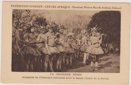 Afrique,indigène,OUBANGUI ,république Centrafricaine,époque Coloniale Française,costume,danse Rituelle De La Gan'za,rare - Centrafricaine (République)