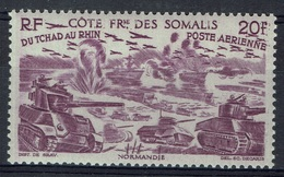 "French Somali Coast, ""Chad To Rhine"", 20f., 1946, MNH VF  Airmail - Neufs"