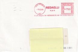 REDAELLI - VERANO B. - Anno 1995 - Affrancature Meccaniche Rosse (EMA)