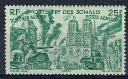 "French Somali Coast, ""Chad To Rhine"", 25f., 1946, MNH VF  Airmail - Neufs"