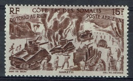 "French Somali Coast, ""Chad To Rhine"", 15f., 1946, MNG VF  Airmail - French Somali Coast (1894-1967)"