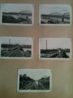 Photo - Cameroun 1952 - Pont De Japoma, Vioe Ferrée Daoula-Yaoundé, 5 Photographies - Africa