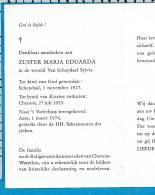 Bp   Zuster    Van Schepdael   Schepdaal   Chenois - Devotion Images