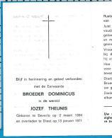 Bp    Broeder   Theunis   Beverlo   Diest - Devotieprenten