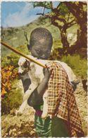 DJIBOUTI,afrique De L'est,prés De La Somalie,l'éthiopie,l'éryt Hrée,en 1950,l'enfant Et L'agneau,avec Baton,rare - Djibouti