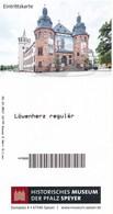 BRD Speyer Eintrittskarte 2017 Historisches Museum Der Pfalz Ausstellung Richard Löwenherz - Tickets - Vouchers