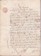 1845 - AKTE - 2 GEBROEDERS FABRIKANTEN VAN LOKEREN VERKOPEN HUIS AAN ONDERPASTOOR VAN HAMME - Documents Historiques