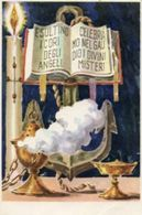 Santino Cartolina ESULTINO I CORI DEGLI ANGELI, CELEBRIAMO NEL GAUDIO I DIVINI MISTERI - P9- - Religione & Esoterismo