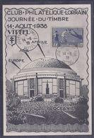 Carte Locale Journee Du Timbre 1938 Coupe Du Monde - France