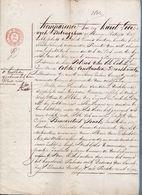 """1841 - AKTE - VERKOOP """" HAGELVELD """" Door PETRUS VAN DER EEKEN ( Oordegem ) Aan B. SONCK ( Letterhoutem ) - Documents Historiques"""