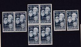 1950 Italia Italy Repubblica LANIERI 8 Serie MNH** - Textile