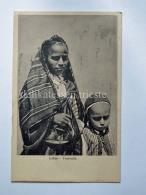 LIBIA MISURATA Mendicanti Beggar AOI Colonie Coloniale Libya AK Old Postcard - Libia