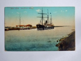 EGITTO EGYPT SUEZ CANAL Al-Suways Nave Ship Ras El Ess AK Old Postcard - Suez