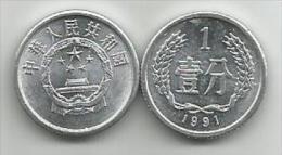 China 1 Fen  1991. - China