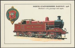 North Staffordshire Railway Hookham's 0-6-4 Passenger Tank Engine - Colourmaster Postcard - Trains