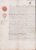 1839 - AKTE - VERKOOP HUIS IN OORDEGEM Door M.TH. FRANCOIS Aan F.J. BATAILLE BIERBROUWSTER Te STRIJPEN - Documents Historiques
