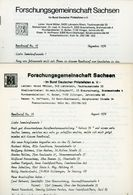 ArGe Sachsen Rundbriefe Nr. 14 + 15 - Jahrgang 1976 - Sachsen
