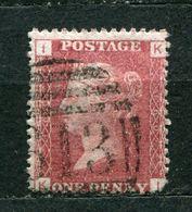 Great Britain Nr.16 Platte:160     (K-I)      O  Used      (830) - 1840-1901 (Victoria)