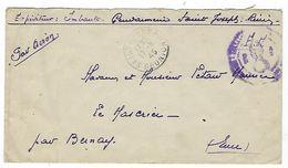 Réunion, Lettre En Franchise De La Gendarmerie à Saint Joseph Pour La France - Postmark Collection (Covers)