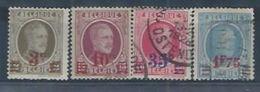 BELGIQUE : Y&T (o) N° 245-248 - 1922-1927 Houyoux