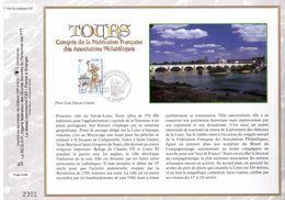 FEUILLET CEF TIRAGE LIMITE, CONGRES F.F.A.P A TOURS, 2001. - Sonstige