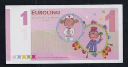 "EURO-Note ""minopolis, Wien,  1 EUROLINO"", Typ B, RRRRR, Nov. 2005, UNC, Canceled, 125 X 61 Mm - Oesterreich"