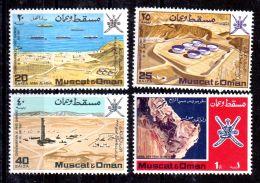 1-1-1969; Mucat Et Oman, 1er Petrol Terminal, Port, Michel-No. 107-110; Neuf **, Lot 49655 - Oman