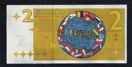 "EURO-Note ""minopolis, Wien,  2 EUROLINO"", Typ A, RRRRR, Mai 2008, UNC, Canceled, 125 X 61 Mm - Oesterreich"