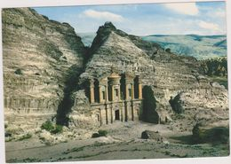JORDANIE,JORDAN,ED DEIR,PETRA,monastere,cité Antique,du Roi Nabateen Obodas 1er,45 De Large Et 42 M De Haut - Jordanie
