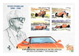 [MD1304] CPM - ENZO FERRARI NEL CENTENARIO 1898/1988 - GIORNATA DELLA FERRARI - Non Viaggiata - Grand Prix / F1