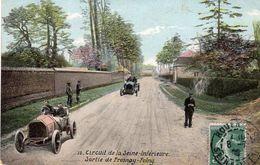 Grand Prix De France 1907 - Circuit De La Seine-Inférieure  -  Sortie De Fresnoy-Folny  -  CPA - Grand Prix / F1