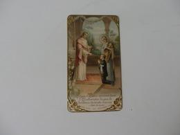 Image Pieuse Souvenir De La Communion En La Chapelle Saint-Jean-Baptiste De La Sale à Rouen (76) De Benjamin Bazire. - Religion & Esotérisme