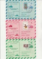TURQUIE LOT DE 3 AEROGRAMMES AFFRANC. N° 2259-2261-2267- CAD ILLUSTRE VISITE JEAN-PAUL 2 -1979 - Interi Postali