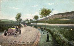 Grand Prix De France 1907 - Circuit De La Seine-Inférieure  -  La Route Après Sept-Meules  -  CPA - Grand Prix / F1
