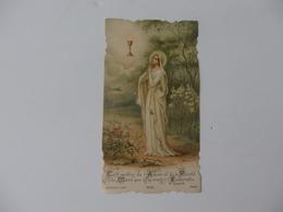 Image Pieuse Souvenir De La Communion En L'église St-Pierre De Macon (71) De Marie Garnier. - Religion & Esotérisme