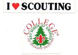Stickers Autocollants  2 Stuks/pcs  1  Boy Scouts Of America  + I Love Scouting  Scouts Scouting - Livres, BD, Revues