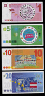 """EURO-Note Set """"minopolis, Wien,  1 - 20 EUROLINO"""", Typ A, RRRRR, UNC -, Canceled - Oesterreich"""