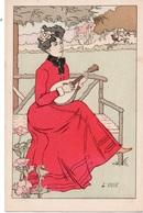 Série De 7 Cartes Postales Signées Lucien ROBERT - Robert