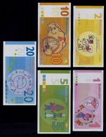 """EURO-Note Set """"minopolis, Wien,  1 - 20 EUROLINO"""", Typ B, RRRRR, UNC -, Canceled - Oesterreich"""