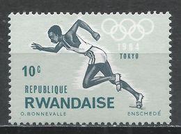 Rwanda 1964. Scott #76 (MNH) Olympic Games, Tokyo, Runner * - Rwanda