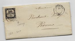 1859 - LETTRE De MAIRIE De MORTERY (BOITE RURALE) TAXEE à PROVINS (SEINE ET MARNE) Avec TIMBRE TAXE  2 IIA CACHET EVIDE - Postage Due