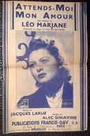 PAD. 302. Partition De Attends Moi Mon Amour - Song Books