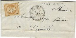 Aveyron N° 13 Oblit 3885, St Geneviève En 1859 - Marcophilie (Lettres)
